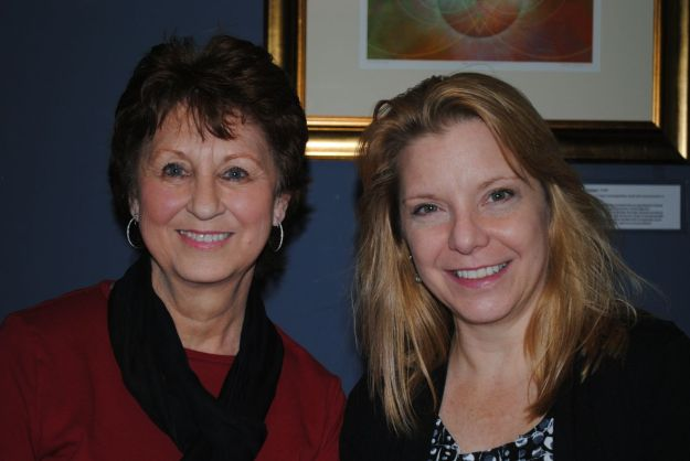 January 2013. Margie Fiorentino, right, took over from Ann Cowen, left, as head of the Governors Village Grounds Steering Committee.Photo credit: Ted Smith