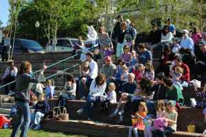 Story time with Mary Shaver At 2012 Governors Village Easter Egg Hunt