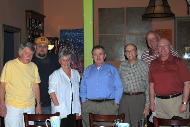 left to right: Ted Smith, Ken Brady, Debbi Nichols, Co-Chair; Jack Sahadi, Dan Spinner, Co-Chair;Terry O'Brien and Frank Ferreira