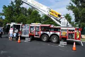 Fire Truck at 2013 Pancake Breakfast