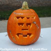 Frankenstein Pumpkin- 2nd Place