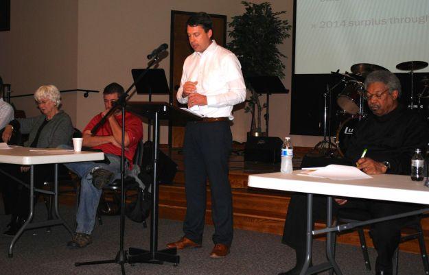 John Eberhard presents the financial update.