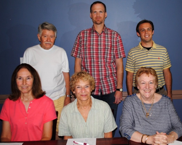 2015 Communication Committee - Seated left to right: Susie Moffat, Terry Landers, Kathy Lohr. Standing: Ted Smith, Daniel Guy, James Glenos.