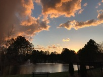 Colorful Sky Over Governors Park Pond